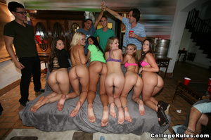 Drunk college girls get wild and start f - XXX Dessert - Picture 4
