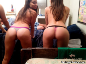 Nasty college girls get wild and expose  - XXX Dessert - Picture 8