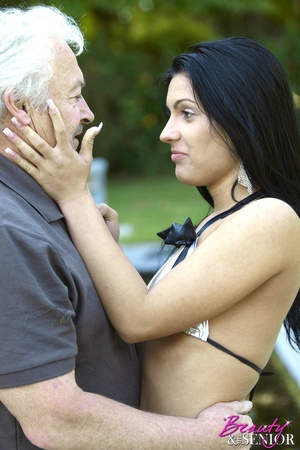 Horny old boss fucking his lovely brunet - XXX Dessert - Picture 7