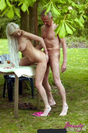 Old boy takes cool brunette chick in the - XXX Dessert - Picture 9