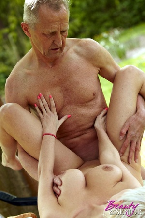 Old boy takes cool brunette chick in the - XXX Dessert - Picture 12