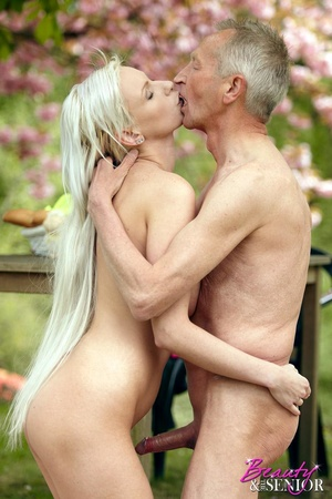 Old boy takes cool brunette chick in the - XXX Dessert - Picture 14