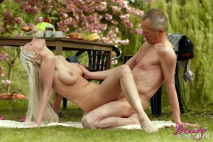 Old boy takes cool brunette chick in the - XXX Dessert - Picture 15