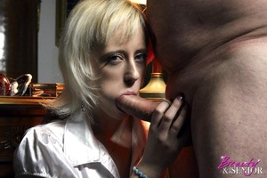 Slutty blonde secretary seduces her old  - XXX Dessert - Picture 6
