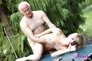 Dirty blonde Nelly seduces old man to di - XXX Dessert - Picture 8
