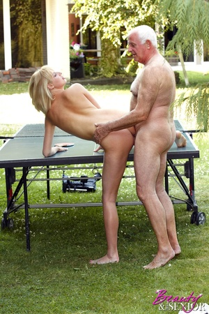 Dirty blonde Nelly seduces old man to di - XXX Dessert - Picture 9