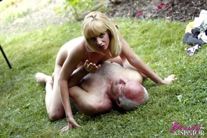 Dirty blonde Nelly seduces old man to di - XXX Dessert - Picture 10