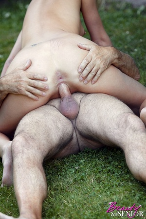 Dirty blonde Nelly seduces old man to di - XXX Dessert - Picture 12