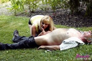 Dirty blonde Nelly seduces old man to di - XXX Dessert - Picture 13