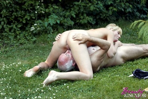 Dirty blonde Nelly seduces old man to di - XXX Dessert - Picture 14