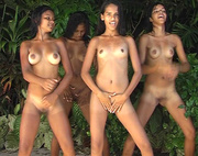 four naked exotic girls
