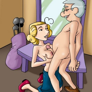 Blonde cartoon wife likes being fucked and doesn't mind fuck her husba..