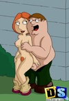 Naughty Peter and Lois Griffins fucking all nude while in private.