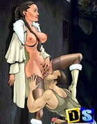Super sexy cartoon Lara Croft gets deepthroated and ass fucked on the