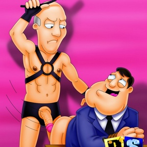 Muscular Stan from American Dad strethes his wife tight pussy by his h..