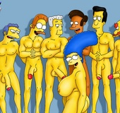 Marge is ready to fill herself with warm desire from a variety of men
