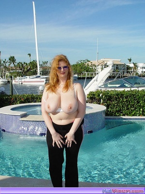Topless Babe Likes To Play Around Boats - XXX Dessert - Picture 1