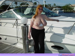 Topless Babe Likes To Play Around Boats - XXX Dessert - Picture 12
