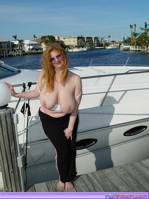 Topless Babe Likes To Play Around Boats - XXX Dessert - Picture 14