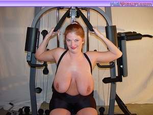 Busty Babe Works Out - XXX Dessert - Picture 20