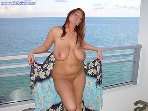 Hot Babe Gets Naked On The Balcony - XXX Dessert - Picture 1