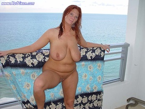 Hot Babe Gets Naked On The Balcony - XXX Dessert - Picture 3