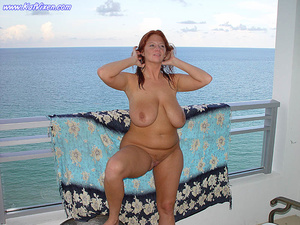 Hot Babe Gets Naked On The Balcony - XXX Dessert - Picture 6