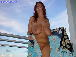 Hot Babe Gets Naked On The Balcony - XXX Dessert - Picture 12