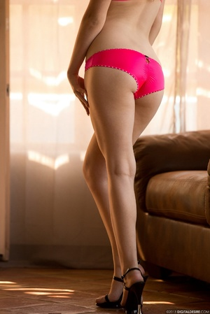 Blonde nymph in red lingerie takes it of - XXX Dessert - Picture 6