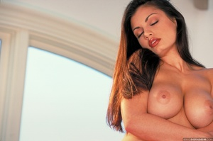 Gorgeous brunette babe with huge melons  - XXX Dessert - Picture 13