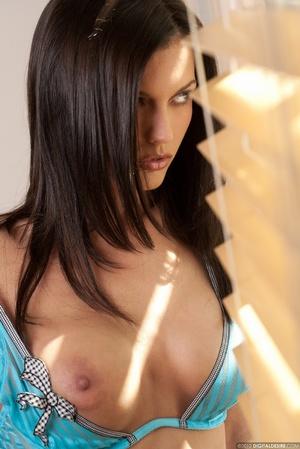 Nasty brunette chick in blue bikini stri - XXX Dessert - Picture 4