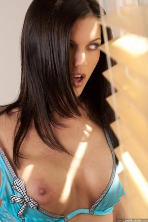 Nasty brunette chick in blue bikini stri - XXX Dessert - Picture 5