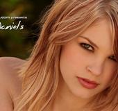 Nasty blonde chick in nice lingerie fingering her lustful cooch on the