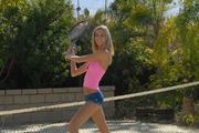 lustful blonde tennis player
