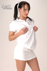 bodacious pigtailed brunette white