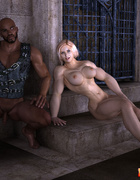 Blonde muscular babe and her swarthy lesbian lover enjoy 69 pussy kicking