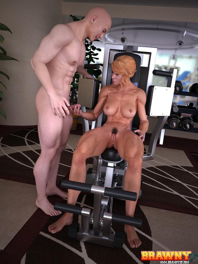 Fitness model goes pornstar