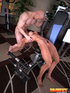 Blonde naked mom gets fucked eagerly on the body-builder by her trainer