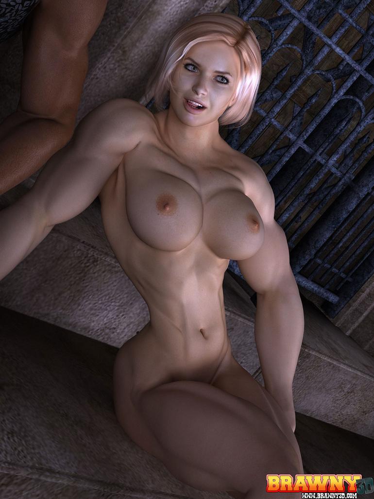 Bodybuilder blonde female