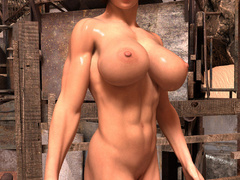 Busty red bitch with awesome body enjoys its naked - Picture 5
