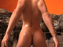 Nasty ginger bitch with huge boobs and muscular body - Picture 2