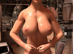 Nasty ginger bitch with huge boobs and muscular body - Picture 4