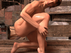 Nasty ginger bitch with huge boobs and muscular body - Picture 6