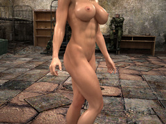 Nasty ginger bitch with huge boobs and muscular body - Picture 10