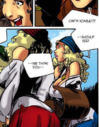 Rowdy pirate can not wait to celebrate her victory with some naughty fun