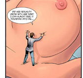 Lonely scientist cannot resist the perfectly shaped giantess in his laboratory