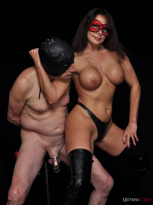 Busty long-haired mistress in a red mask - XXX Dessert - Picture 4