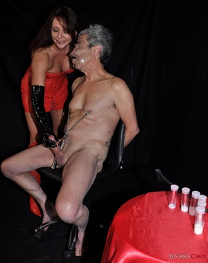 Poor old fart with clamps and a weight o - XXX Dessert - Picture 7