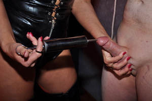 Gorgeous mistress in a black corset and  - XXX Dessert - Picture 4