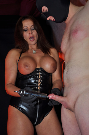 Gorgeous mistress in a black corset and  - XXX Dessert - Picture 5